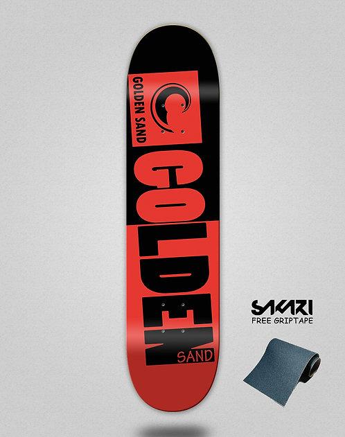 Golden Sand Degraded tone black red skate deck