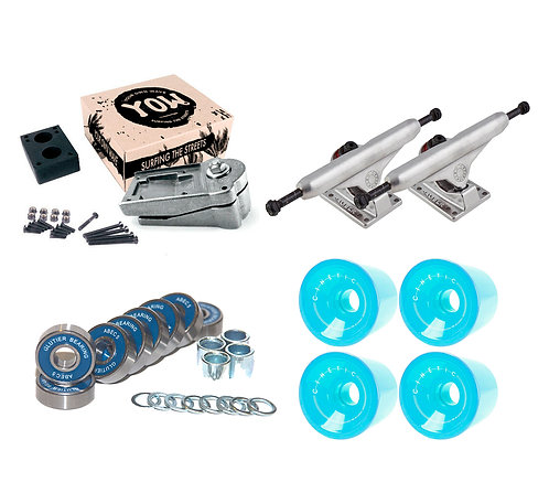 Yow S4 system Caliber trucks 160 bearings and Cinetic 78a
