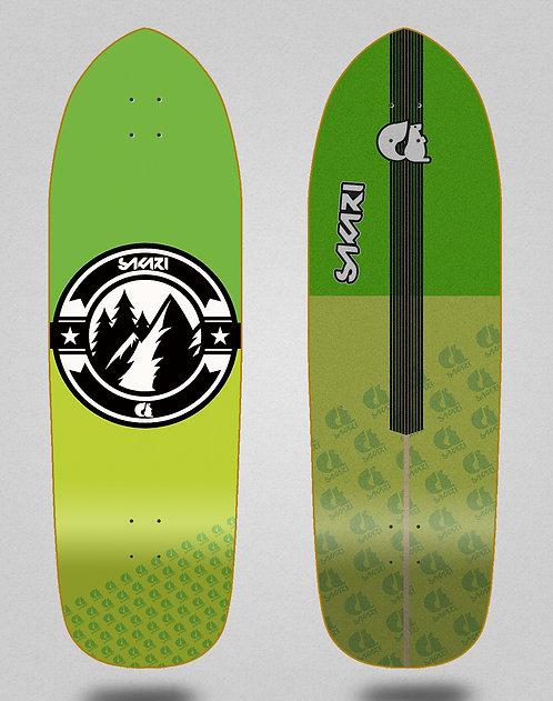 Sakari surfskate deck Downhill juice green 33.5 hill