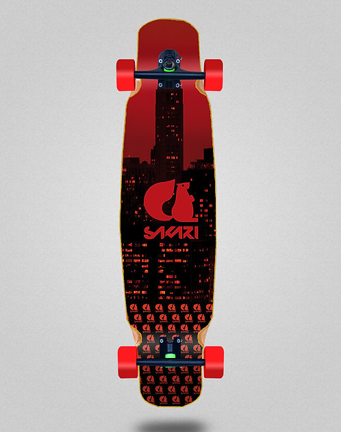 Sakari City red longboard dance complete 46x9