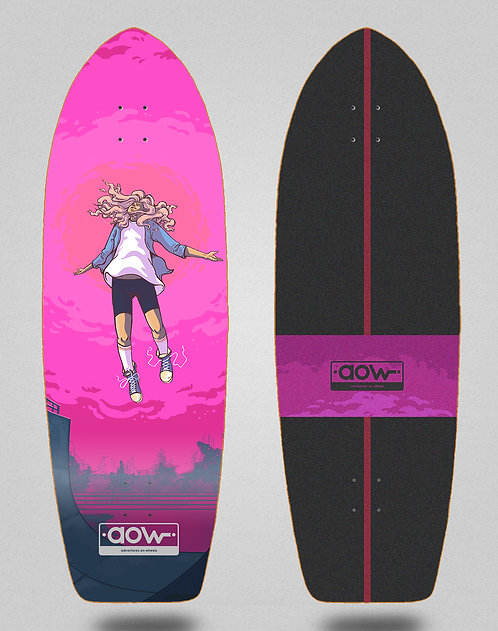 Aow surfskate deck Floating pink 30
