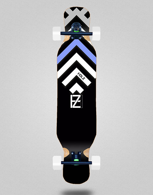 Holz Gram BW Akira black longboard complete 46x10