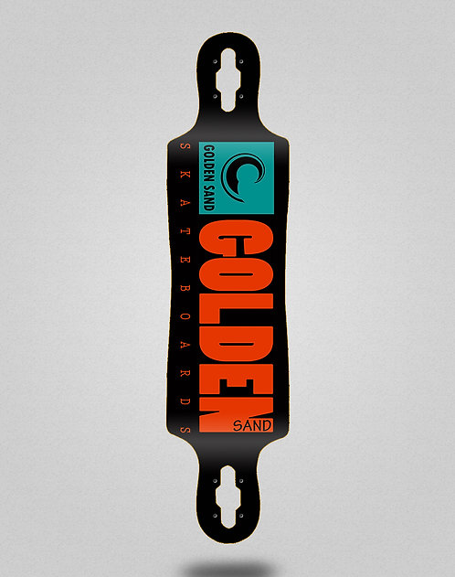 Golden Sand Icon turquoise longboard deck 40x9