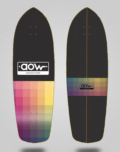 Aow surfskate deck Pixels black 34