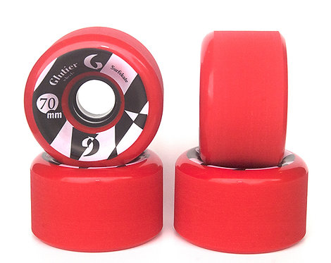 Glutier wheels : 70x42cm / 80a red