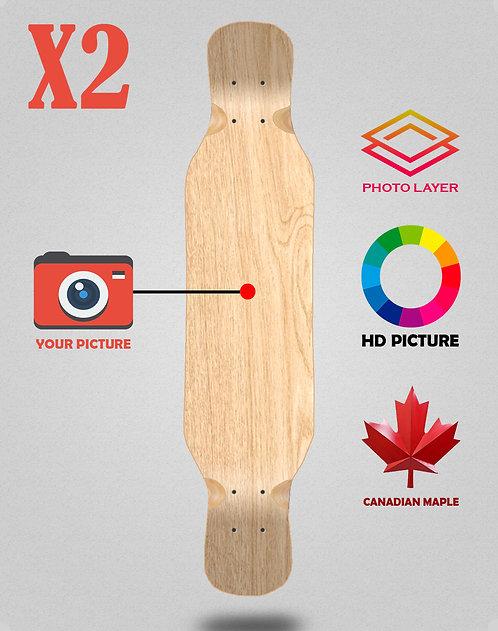 Personalizador longboard deck 46x9 X2 unidades