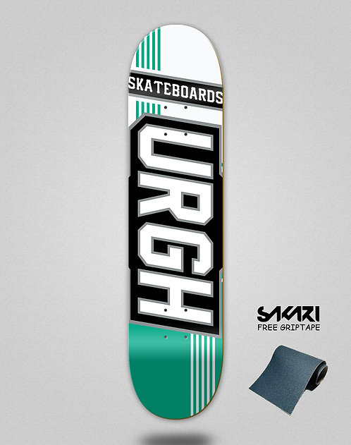 Urgh skate deck Duo tone white turquoise