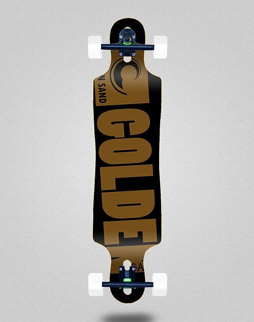 Golden Sand Degraded blk brwn longboard complete 40x9