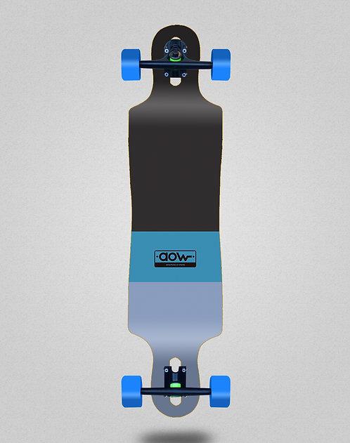 Aow Fastskate classic blue longboard complete 40x9