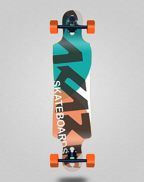 Sakari Fus turq orange longboard complete 40x9