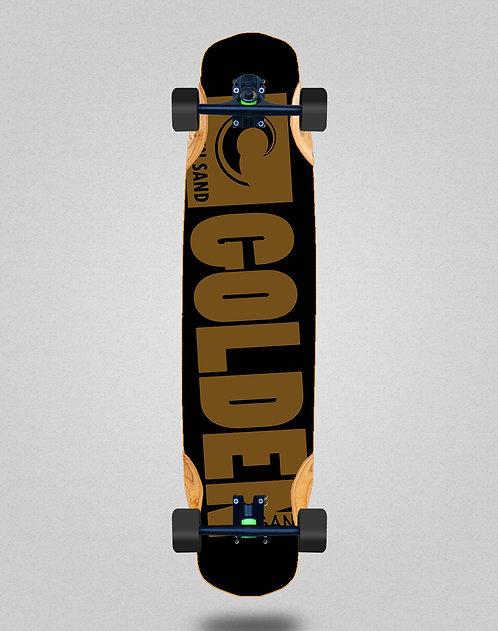 Golden Sand Degraded blk brwn longboard complete 38x8.45