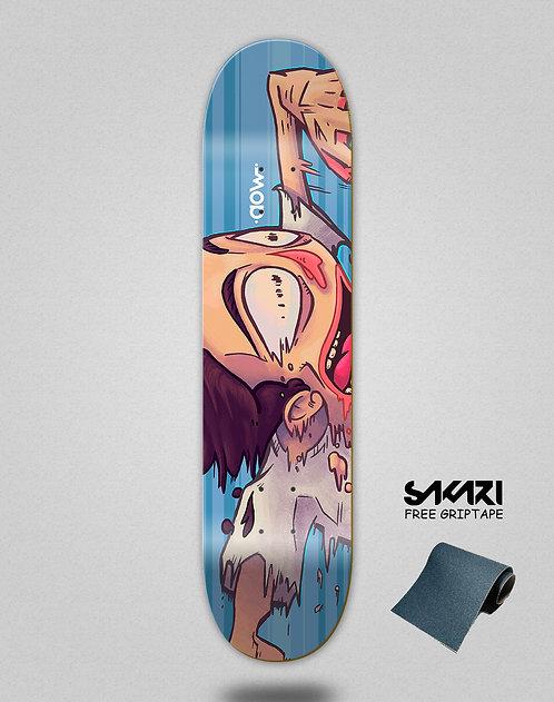 Aow fast skate blue skate deck