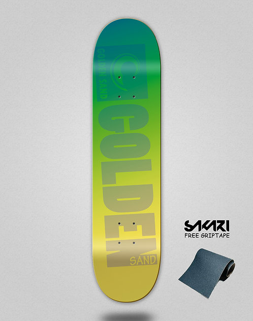 Golden Sand Degraded blue to yellow skate deck