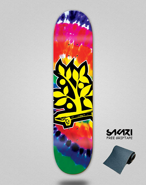 Wood light skate deck Tie dye Oliveira