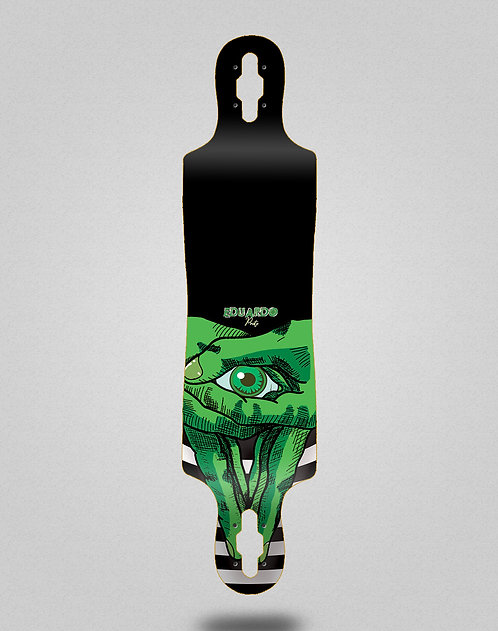 Cromic Eduardo Prieto Classic green longboard deck 40x9