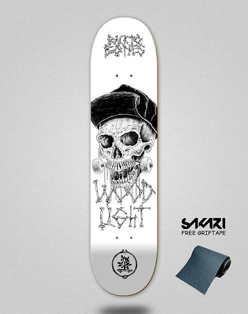 Wood light skate deck Back to bones Dias white