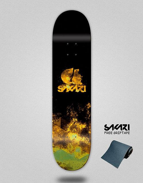 Sakari Lume 2.0 yellow skate deck