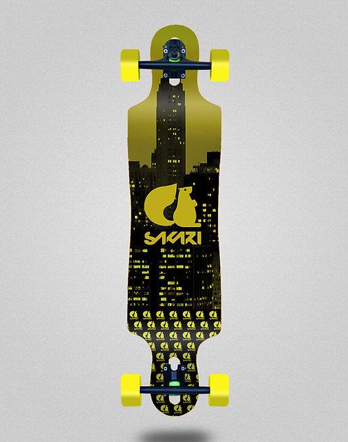 Sakari City yellow longboard complete 40x9