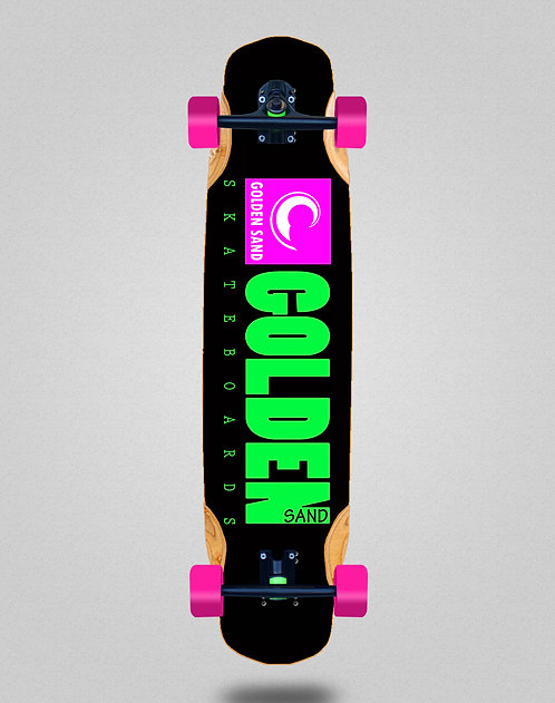 Golden Sand icon black pink longboard complete 38x8.45