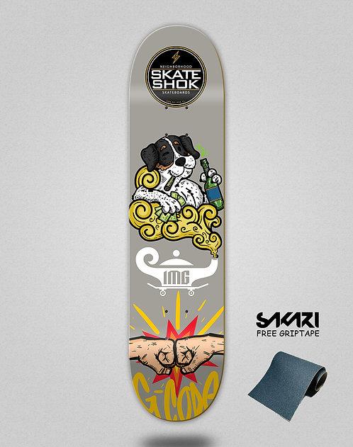 Skate shok deck G-Code grey