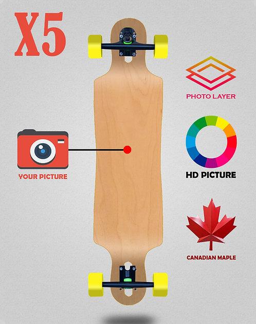 Personalizador longboard complete 40x9 X5 unidades