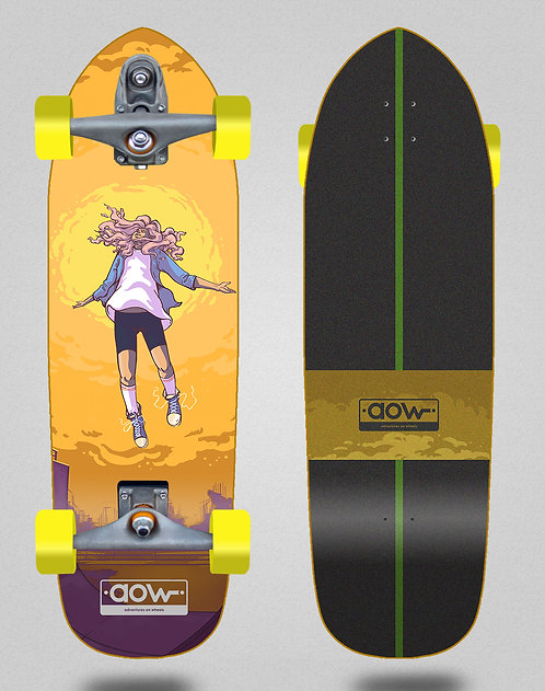Aow surfskate T12 trucks Floating yellow 33.5
