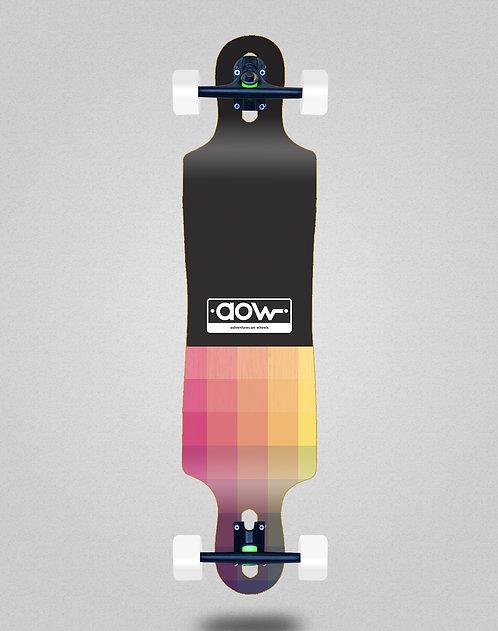 Aow Pixels black longboard complete 40x9