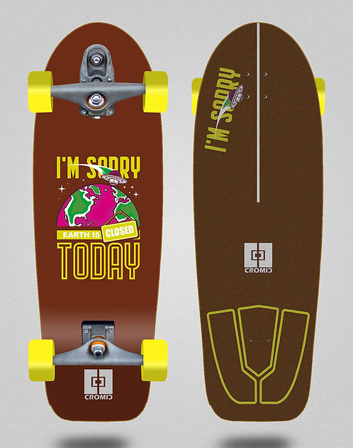 Cromic surfskate T12 trucks C19 Earth brown 30,5