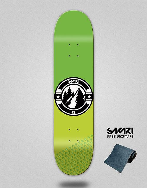 Sakari Downhill juice green skate deck
