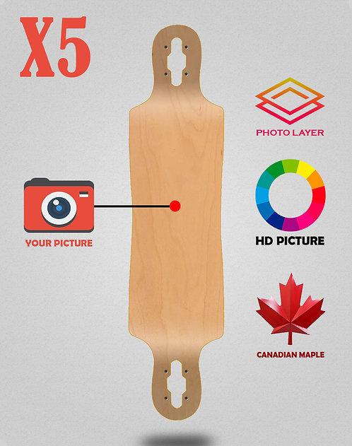 Personalizador longboard decks 40x9 X5 unidades