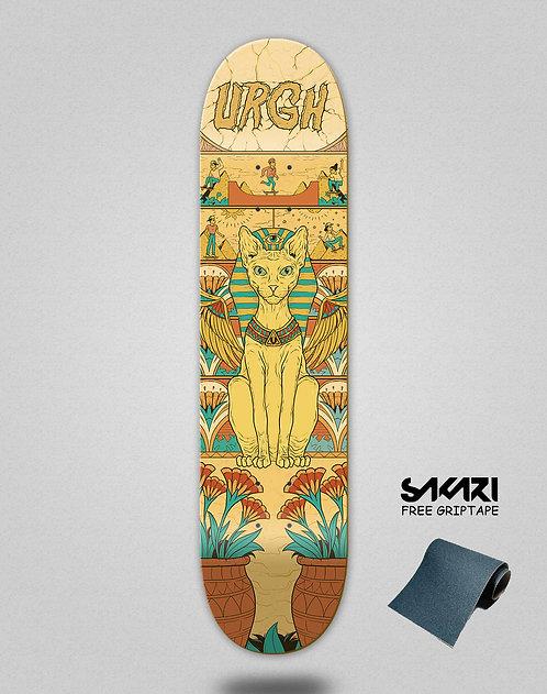 Urgh skate deck Gato egipcio
