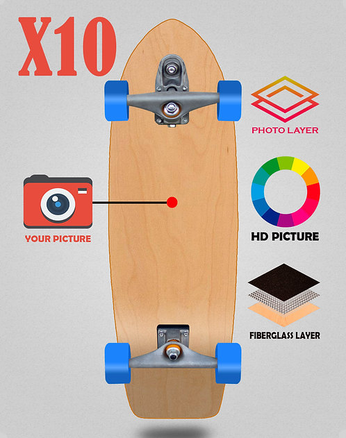 Personalizador surfskate complete T12 29 X10 unidades