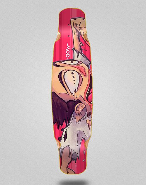 Aow Fastskate red longboard deck bamboo dance 46x9