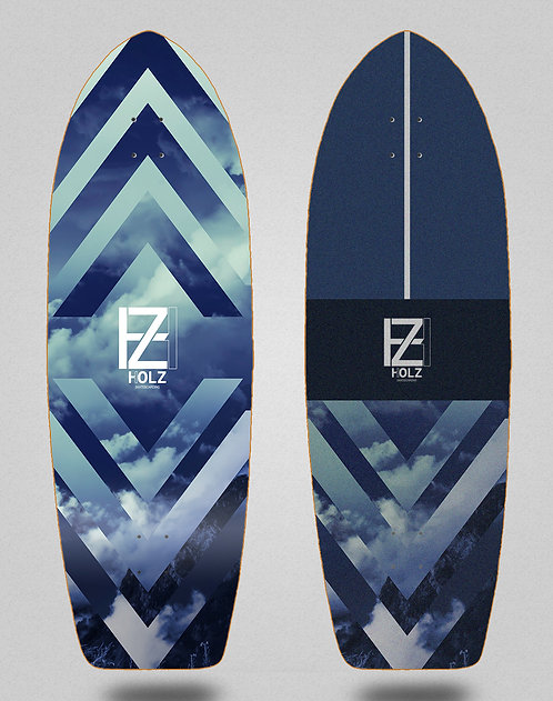 Holz surfskate deck Clouds gram 29