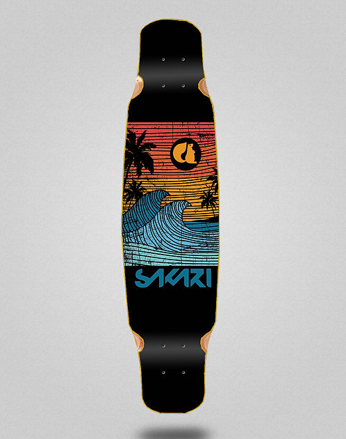 Sakari Cali dream orange longboard deck dance 46x9
