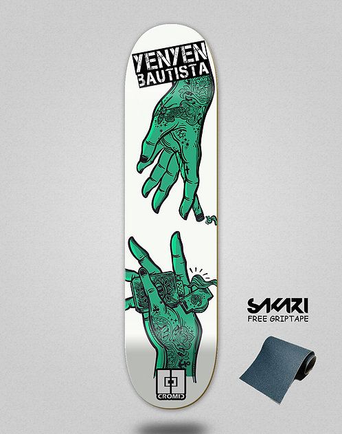 Cromic Yenyen hands white turquoise