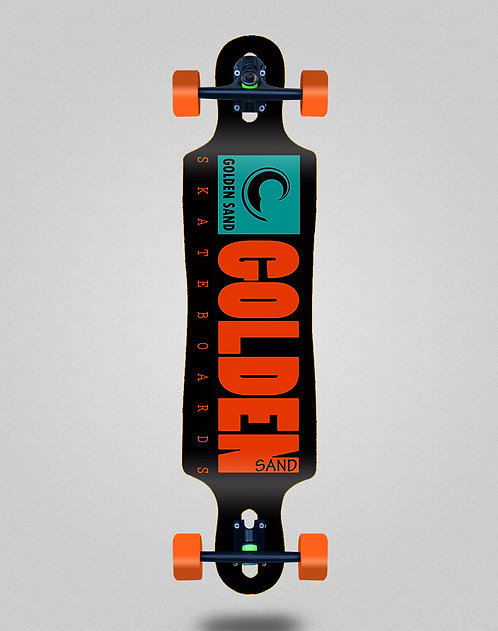 Golden Sand icon turquoise longboard complete 40x9