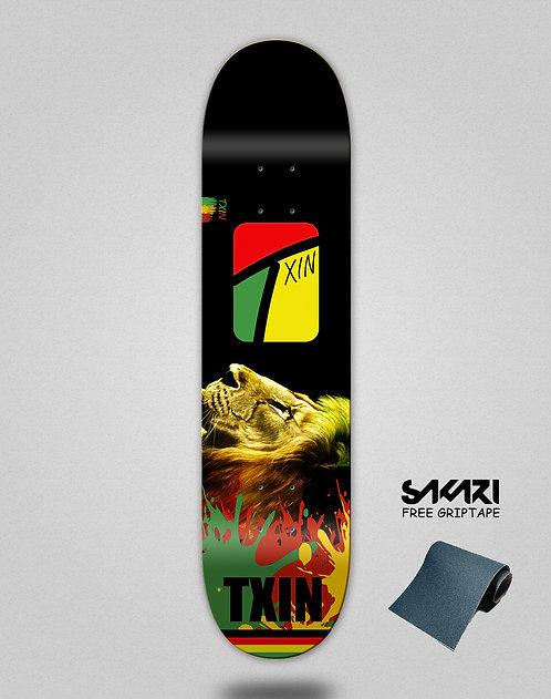 Txin Rasta lion skate deck