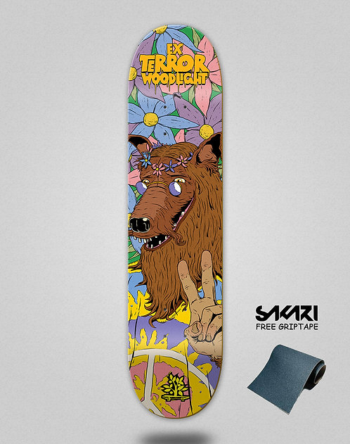 Wood light skate deck Ex terror wolf