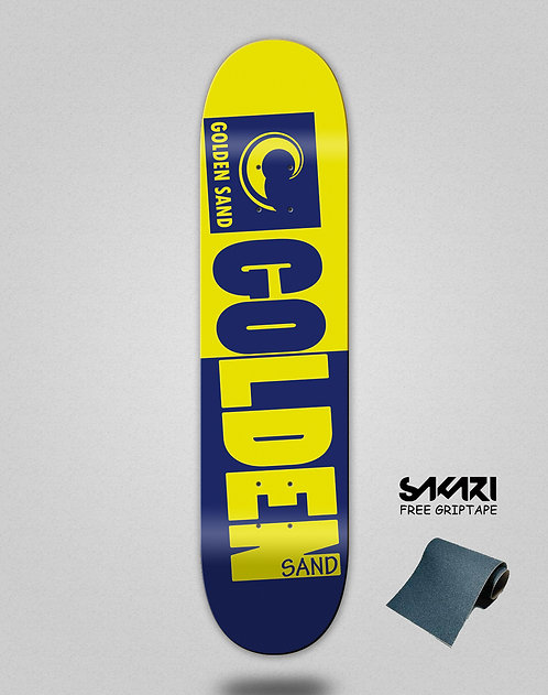 Golden Sand Degraded tone yellow blue skate deck