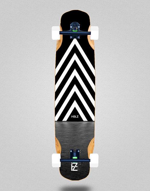 Holz dark gram longboard complete 38x8.45