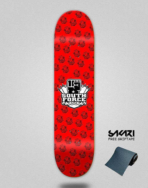 South force skate deck NF red