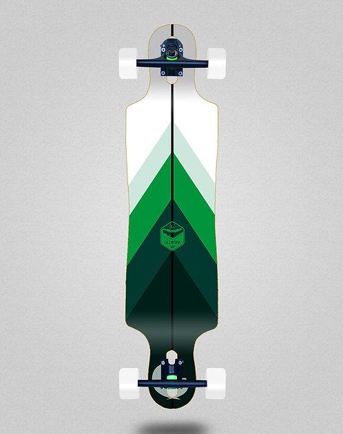 Glutier Green style longboard complete 40x9