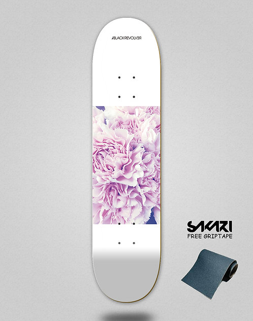 Black Revolver skate deck Beautiful death Dangerous love