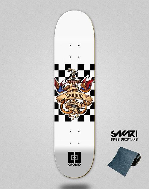 Cromic Seimam white skate deck
