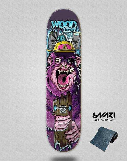 Wood light skate deck Freak show gorile