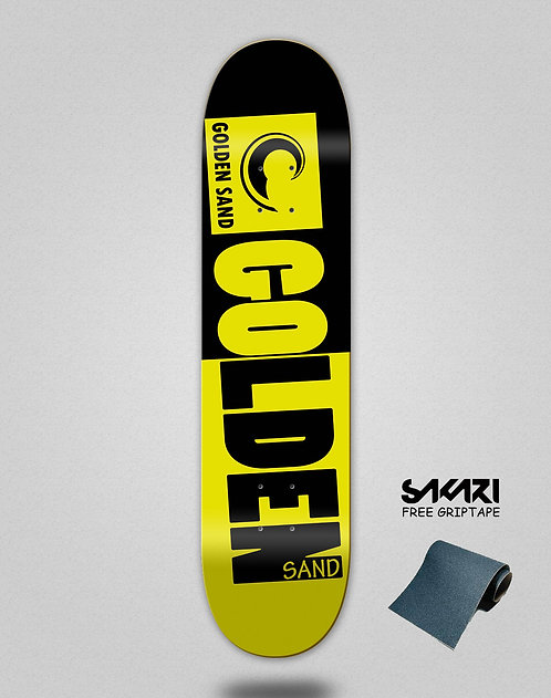 Golden Sand Degraded tone black yellow skate deck
