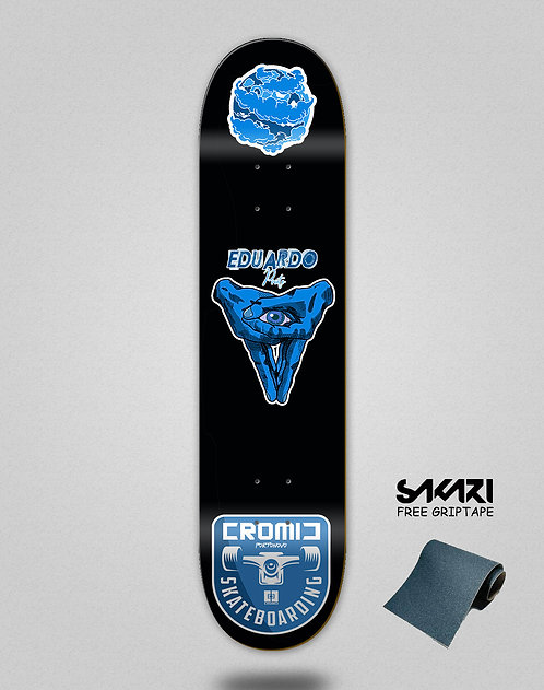 Cromic Eduardo Prieto Pro icon blue skate deck