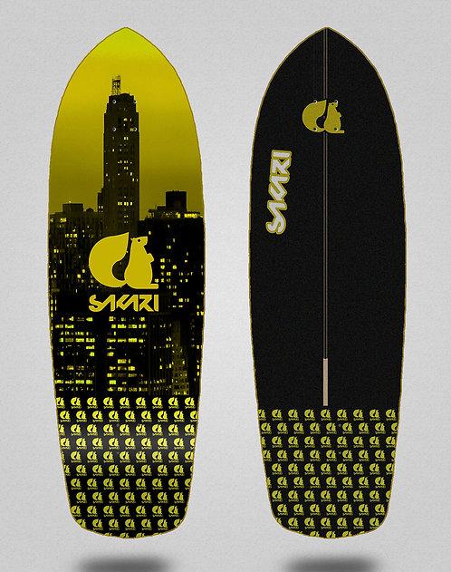 Sakari surfskate deck - City yellow 34