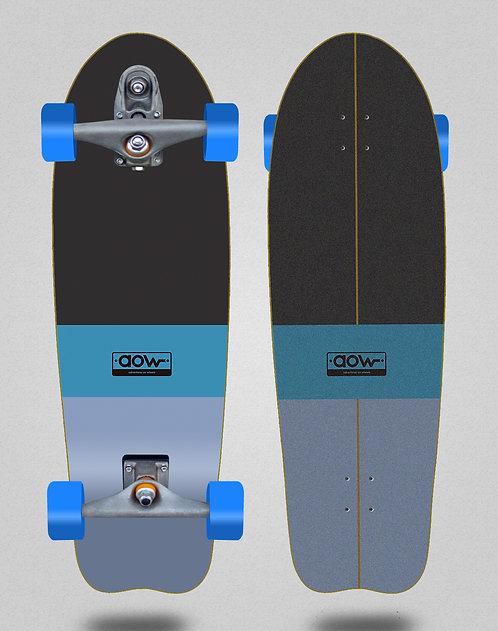 Aow surfskate T12 trucks Fastskate classic blue 31